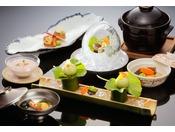 【せせらぎ会席】旬の野菜・魚をお楽しみください。 ※イメージ