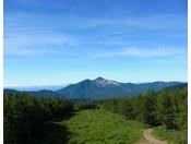 ロープウェイ山頂駅からの磐梯山