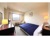 落ち着いた色調の19平米のゆとりの客室は、シンプルで機能的なお部屋です。