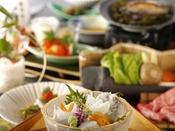 特選夏会席イメージ(長門近海の海の幸を中心に食材を厳選。ご当地ならではの味わいをご堪能くださいませ)