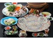 冬期限定。山口県の名物「ふく」をフルコースでお楽しみいただけるご宿泊プラン。最後はふくフルコースならではの絶品「ふく雑炊」もおたのしみに。