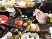 【冬会席:白露】焼物:長門近海の甘鯛の若狭焼き。冬らしいしめじとゆりねのクリーム焼きで。