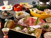 春の特選会席「花雲」:天然白身に剣先イカ、仙崎タコ、甘鯛に仙崎穴子。最後の〆はのど黒飯。日本海の幸をたっぷりご堪能くださいませ