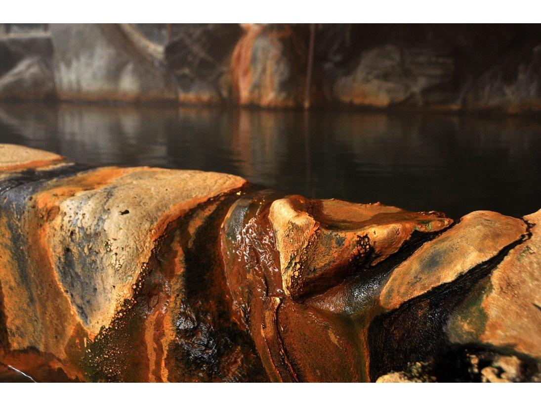 本物の湯、源泉の証「湯成分の結晶」