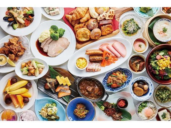 和洋食の朝食ブッフェ(一例)
