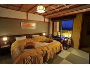 ハリウッドツイン・露天風呂付客室の一例