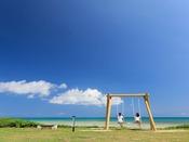 【ビーチエリア】海のブランコ
