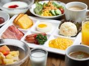 朝食(洋食取り分けイメージ)