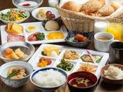 朝食(和洋食取り分けイメージ)