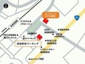 コンフォートホテル成田の駐車場案内