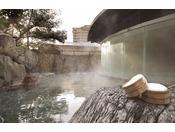 冬の野天風呂