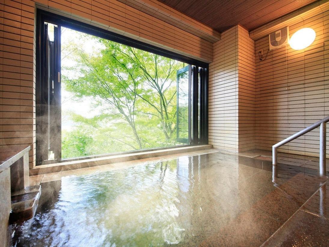 【大浴場】泉質の良い箱根強羅温泉かけ流しの湯をお楽しみ下さい。