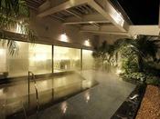 """【エミオンタワー】天然温泉付き大浴場""""ほほえみの湯""""(有料)露天風呂はエミオンタワーのみとなります。"""