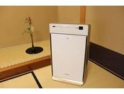 当館は全てのお部屋に空気清浄機を設置しております。