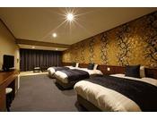 山水閣新和洋室(トリプルベッドルーム)