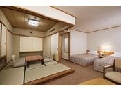 『飛泉閣』ツインベッドが付いた和洋室(一例)