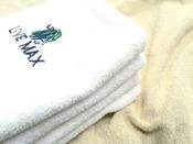 【バスタオル】(連泊で清掃不要のお客様はお気軽にお申し付けください)