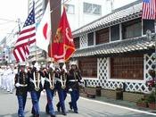 下田市では、毎年5月中旬に、黒船来航と下田港開港を記念して「黒船祭」が開催されます。期間中は、様々なイベントが催されます。