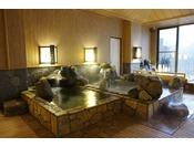 【大浴場】岩風呂。