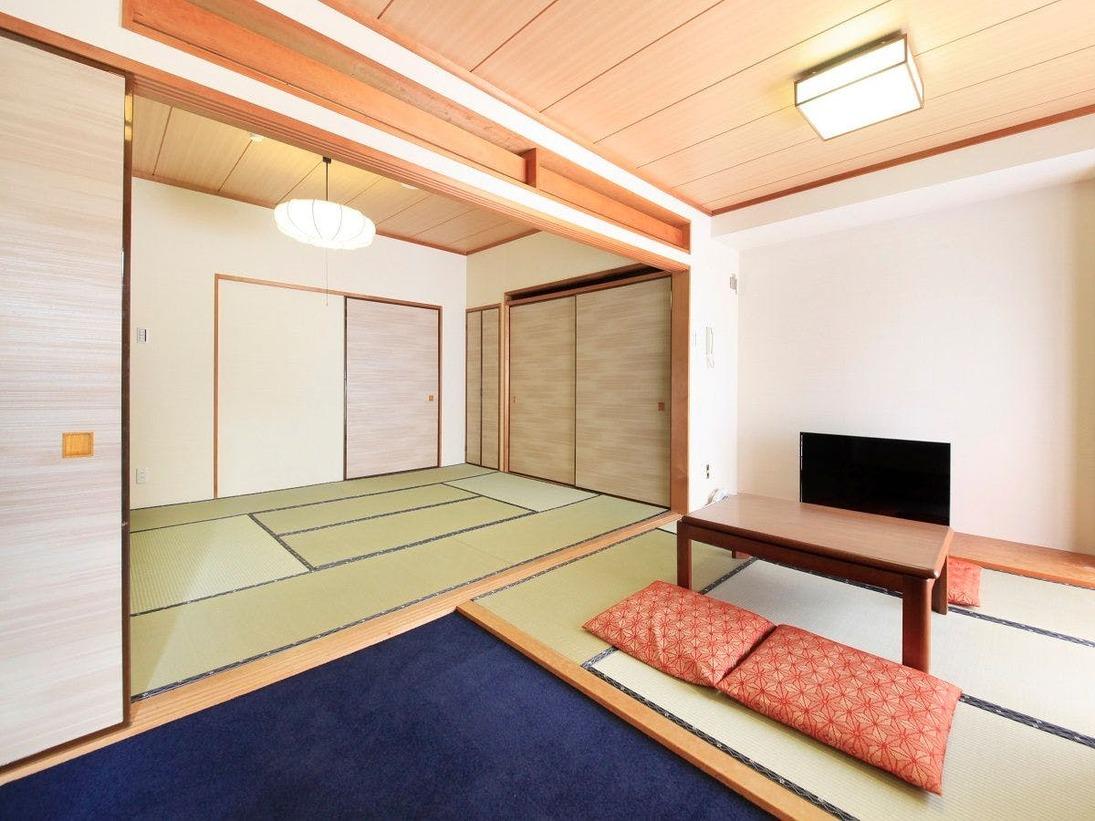 【お部屋】和室48平米・二間(全室キッチン・電子レンジ・冷蔵庫付き)