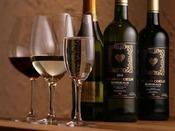 【ワイン】種類も豊富にご用意しております。