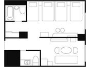 平面図:華小路ファミリールーム