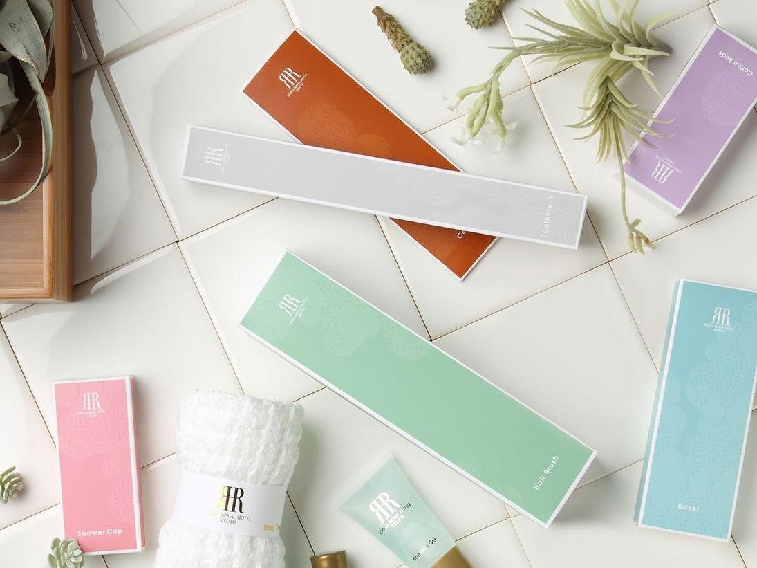 【バスアメニティ】パッケージには日本の伝統色を使用。