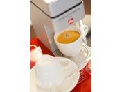 【ラグジュアリーツイン】最上階(磐梯山ビュー)お部屋備え付けのコーヒーマシーンでゆったり
