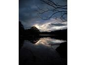 【周辺景観】桧原湖での夕焼け