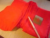 還暦お祝いプランの赤いちゃんちゃんこセット