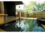【貸切露天風呂】竹座。竹作りの母屋で竹林を思わせる。Private open air-bath ( reservation is not needed )