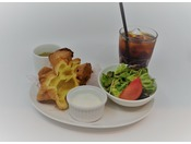 LAD'S DE WINE朝食 ヨーグルト+ポップオーバー+サラダ+スープ+ドリンク(セット例)