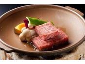 鳥取和牛の陶板焼き