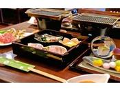 【ご夕食】木の葉御膳 一例【Dinner】The main is meat ( Teppaanyaki )