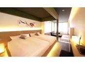【別邸ツインルーム】京町家を思わせる約50平米の和洋室