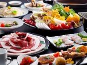 天然猪肉と淡路島3年とらふぐをどちらも味わう特選コース≪料理イメージ≫