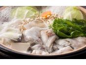 とらふぐならではの独特の旨みをご堪能頂けるてっちり鍋≪料理イメージ≫