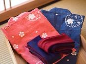 ◆ルームアメニティ◆色浴衣をご用意しております