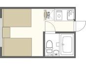 ツインルーム間取りイメージ※実際の縮尺と多少異なります