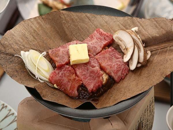 飛騨牛の朴葉味噌焼き 下呂温泉の郷土料理