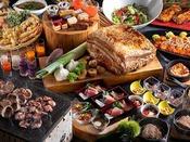 【夕食ブッフェ・一例】実り豊かな収穫の秋。旬の味覚をこころゆくまでお楽しみ下さい。