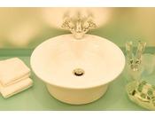 ペパーミントグリーンを基調にしたモダンでおしゃれなプレジャールームの水回り。【サウスサイド(2~7階)】
