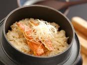 【冬会席:白露】お食事:金太郎のかまめし。湯気にひろがる繊細な旨味。地元ならではの味わいをどうぞ