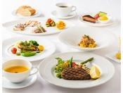 上質な牛フィレ肉をステーキに。地元食材にこだわったイタリアン(一例)