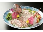 【別注料理】身がしまった鯛の活き造り