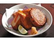 【別注料理】鹿児島名物のさつま揚げ。本場の味をお召し上がり下さい。