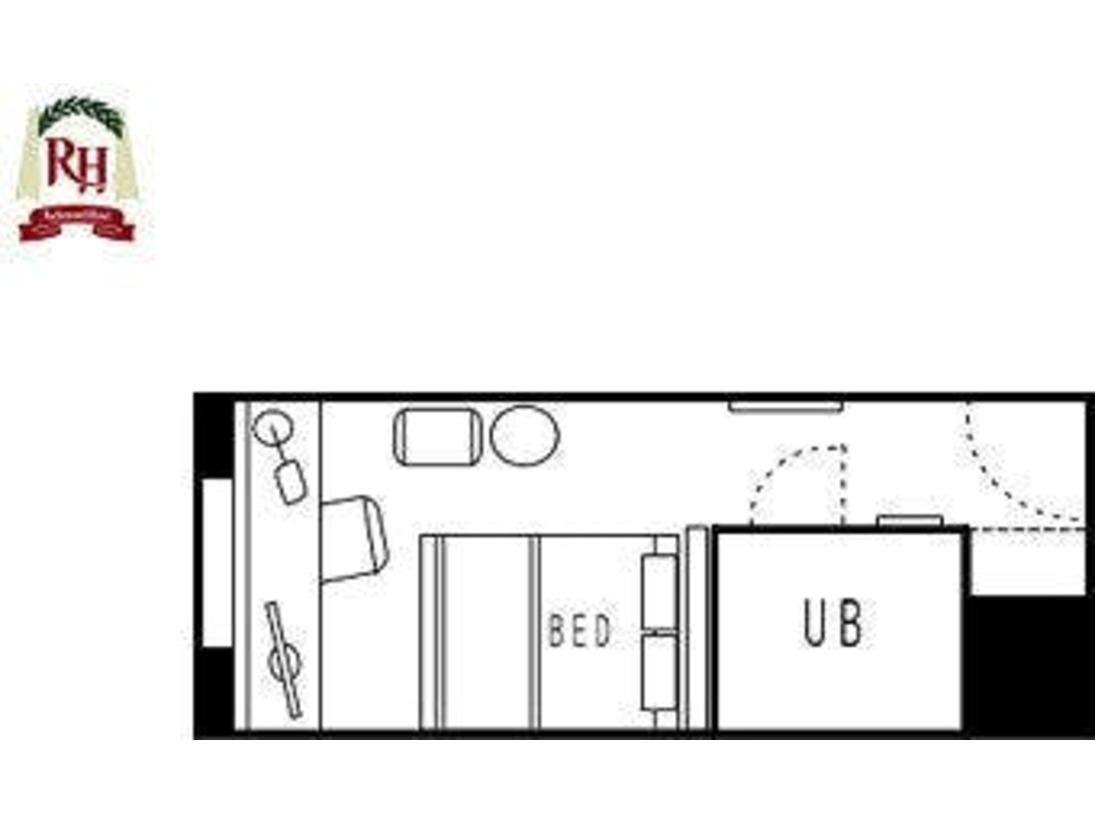 シングル/モデレートダブル客室見取り図