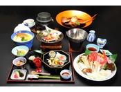 海鮮金目コースのお食事の一例