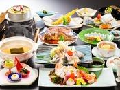 ■海鮮グルメ会席■「姿造り・河豚鍋・蛸釜飯・鮴の煮付」などなど多種類の海鮮を様々な調理法でご用意♪