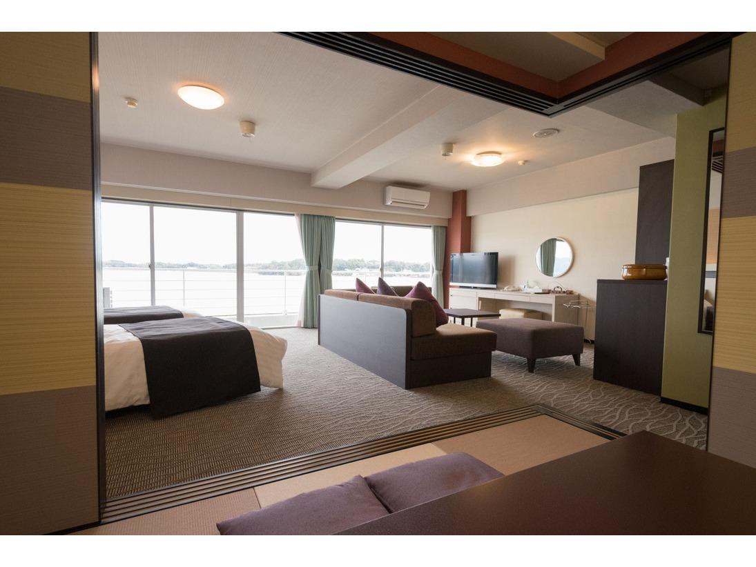 定員5名和室6畳+シモンズベッド2台+ソファーベッド1台